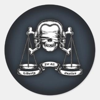 Law Pirate Classic Round Sticker