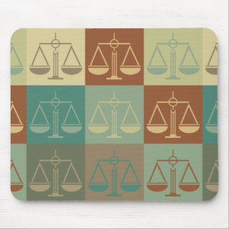 Law Pop Art Mouse Pad