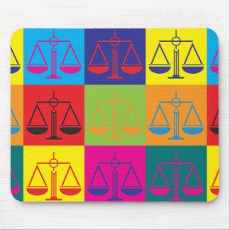 Law Pop Art Mouse Mats