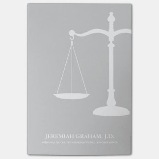 Law Professional Custom Name Justice Scales Post-it Notes