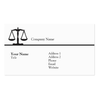 Law - Scale - Business Double-Sided Standard Business Cards (Pack Of 100)