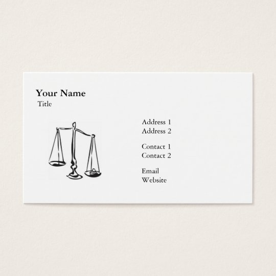 Law - Scale - Business Business Card