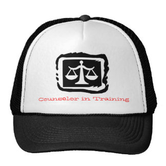law scales, Counselor in Training Trucker Hat