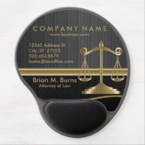 Law | Scales of Justice | Black Gel Mouse Pad