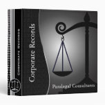 Law | Scales of Justice | Black | Lawyers Binder