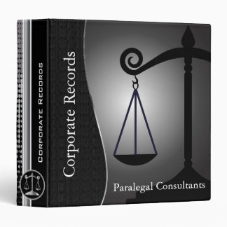 Law | Scales of Justice | Black | Lawyers 3 Ring Binders