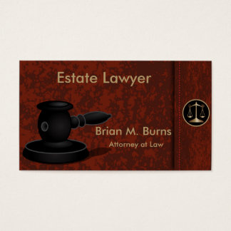 Law | Scales of Justice | Customizable Business Card
