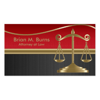 Law | Scales of Justice | Customizable Double-Sided Standard Business Cards (Pack Of 100)