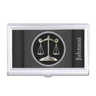 Law | Scales of Justice  | Lawyer Business Card Holder