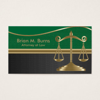 Law | Scales of Justice | Lawyer | Customizable Business Card