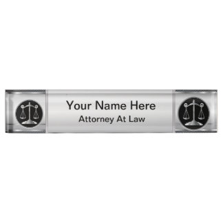 Law | Scales of Justice | Lawyer Desk Name Plate