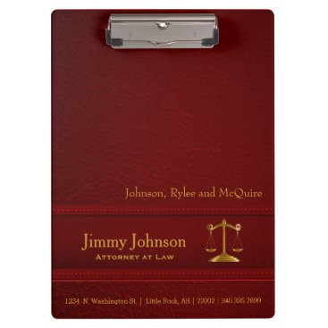 Lawyer Themed Law   Scales of Justice   Lawyer - Red Clipboard