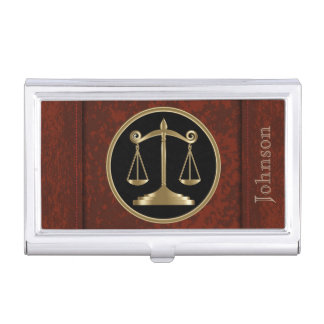 Law | Scales of Justice | Personalize Case For Business Cards