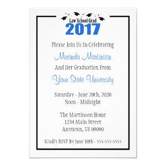 Law School 2017 Graduation Invite (Blue Caps)