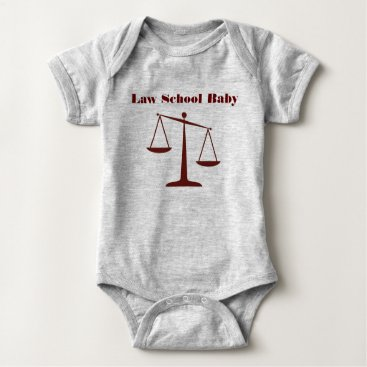 Halloween Themed Law School Baby Romper (Burgundy Ink)