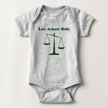 Halloween Themed Law School Baby Romper (Green Ink)