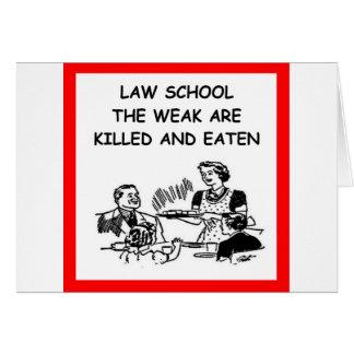law school greeting card