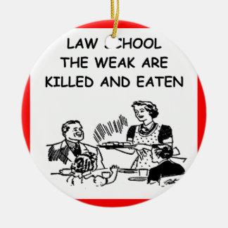 law school ceramic ornament