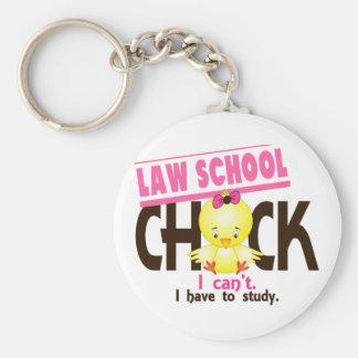 Law School Chick 1 Basic Round Button Keychain