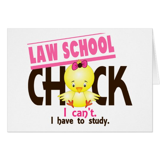 Law School Chick 1 Card