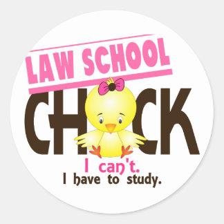 Law School Chick 1 Classic Round Sticker