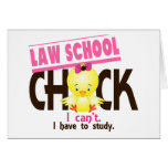 Law School Chick 1 Greeting Card