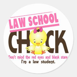 Law School Chick 2 Classic Round Sticker