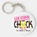 Law School Chick 3 Basic Round Button Keychain