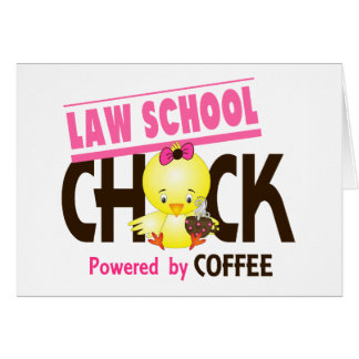 Law School Chick 4 Greeting Card