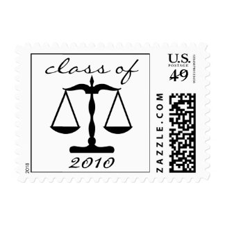 Law School Class Of 2010 (Black Scales Of Justice) Postage