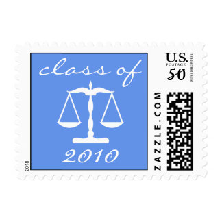 Law School Class Of 2010 (Blue Scales Of Justice) Postage