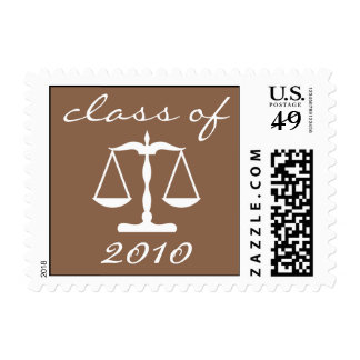 Law School Class Of 2010 (Brown Scales Of Justice) Postage
