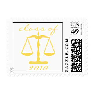 Law School Class Of 2010 (Gold Scales Of Justice) Postage