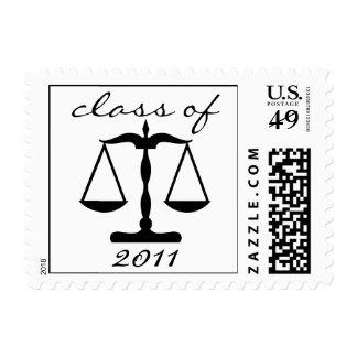 Law School Class Of 2011 (Black Scales Of Justice) Postage