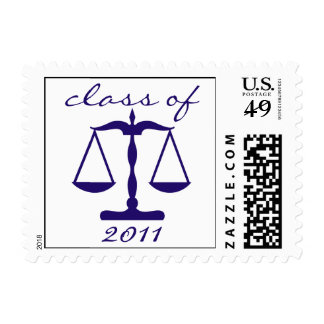Law School Class Of 2011 (Blue Scales Of Justice) Postage