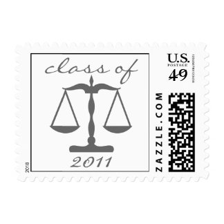 Law School Class Of 2011 (Gray Scales Of Justice) Postage