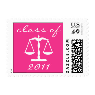 Law School Class Of 2011 (Pink Scales Of Justice) Postage
