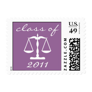 Law School Class Of 2011 Purple Scales Of Justice Postage