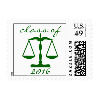 Law School Class Of 2016 (Green Scales Of Justice) Postage Stamp