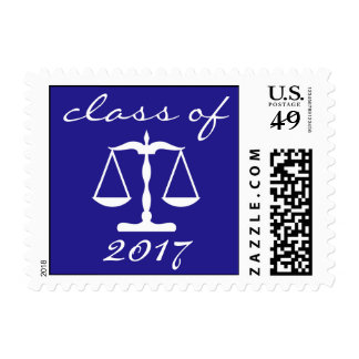Law School Class Of 2017 (Blue Scales Of Justice) Postage