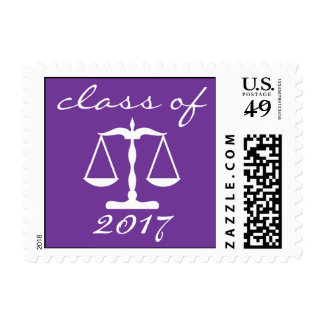 Law School Class Of 2017 Purple Scales Of Justice Postage