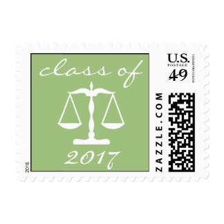 Law School Class Of 2017 (Sage Scales Of Justice) Postage