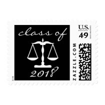 Law School Class Of 2018 (Black Scales Of Justice) Postage