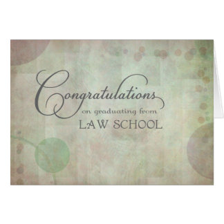 Law School Congratulations Greeting Card
