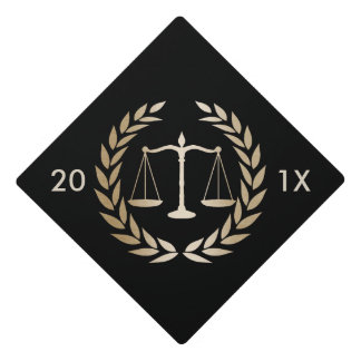 Law School Gold Justice Scale Graduation Graduation Cap Topper