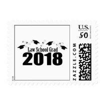 Law School Grad 2018 Caps And Diplomas (Black) Postage