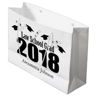 Law School Grad 2018 Graduation Gift Bag (Black)