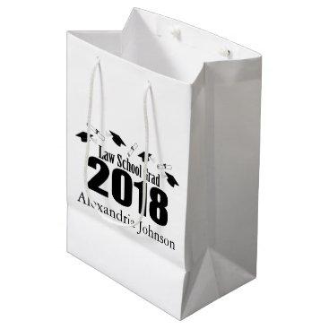 Lawyer Themed Law School Grad 2018 Graduation Gift Bag (Black)