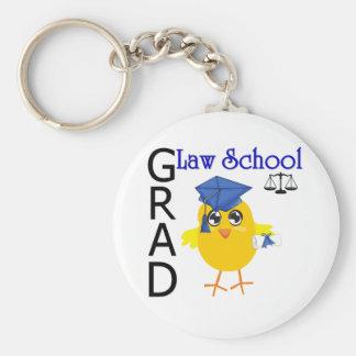 Law School Grad Basic Round Button Keychain