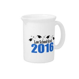 Law School Grad Class Of 2016 Caps (Blue) Drink Pitcher